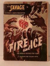 Vintage  July 1946 Doc Savage Pulp Magazine- Fire & Ice-VG+  FREE S&H (M3004)