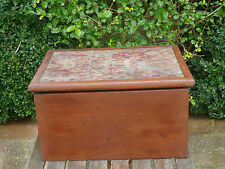 Vintage Wooden Tool Box Storage Cabinet Chest Wood Sewing Box Hobbies Crafts