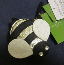 Kate Spade DOWN THE RABBIT HOLE Bee Coin Purse Wallet glitter