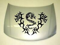 Motorhaube Tribal Drache Dragon Aufkleber Sticker Tuning Kult in 58X80cm