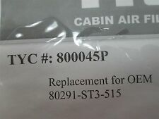 97-01 HONDA CR-V, 00-06 HONDA INSIGHT TYC REPLACEMENT CABIN AIR FILTER 800045P
