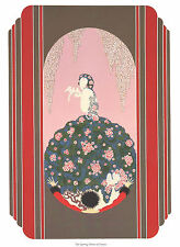 "CLASSIC ERTE ART DECO BOOK PLATE PRINT "" SPRING DRESS OF VENUS""  GIFT"