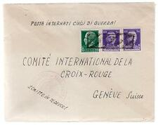 WW 2 Ferramonti Italy Concentration Camp Cover Swiss Red Cross Jly Weisz