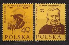 POLAND 1956 **MNH SC#744/45 50th ann. death of Dr. John Dzierżoń - beekeeper