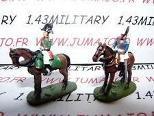 SOLDAT de plomb DEL PRADO 1/50 : AUSTERLITZ Napoléon : lot n°32 2 cavaliers