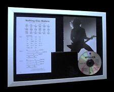 METALLICA Nothing Else Matters LTD CD MUSIC FRAMED DISPLAY+EXPRESS GLOBAL SHIP!!