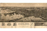 Map of Duluth, Minnesota by Wellge; 1893; Antique Birdseye Map