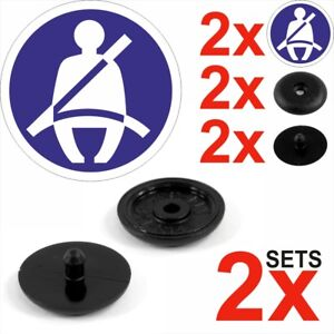 2x Seat Belt Stopper Buckle Buttons Holders Studs Retainer Pin Clips Universal