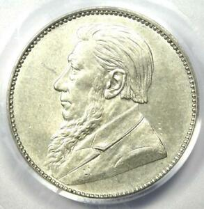 1897 South Africa Zar Shilling (1S Coin) - Certified PCGS AU55 - Rare Coin!