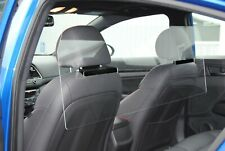 """Rideshare sneeze guard, protective clear shield 46-52"""" wide"""