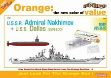 7112 Dragon USSR Adrimal Nakhimov + USS Dallas SSN-700 Orange Series Scale 1:700