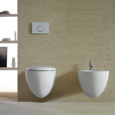 Sanitari Sospesi senza brida Ceramica Globo Bowl+ 55 WC + BIDET + SEDILE SOFT CL