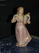 + Kaiser (Goebel) Engel Harfe 13,5 cm. Angel Herp Farbe Antik Rose NEU & OVP