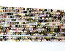 """12.5"""" MULTI TOURMALINE BEADS FINE MICRO CUT FACETED ROUND 1.5 MM NATURAL @685"""
