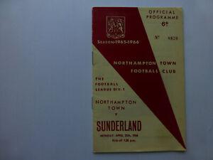 Northampton Town programme, Northampton Town v Leeds United, 5th March 1966.