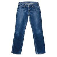 Vintage Levi's Demi Curve Women Blue Stretch Straight Fit Jeans Size W28 L32