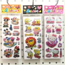 Cartoon Sticker 20 Sheets Per Lot Bubble Mixed  Stickers For Childrens Fun Toy
