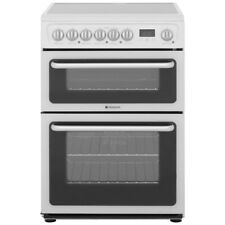 Hotpoint HARE60P Free Standing B/ B Electric Cooker with Ceramic Hob 60cm White