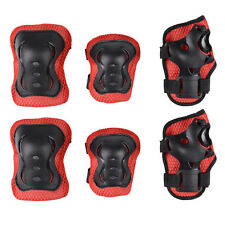 Kid's Roller Blading Wrist Elbow Knee Pads Blades Guard 6 PCS Set Protective