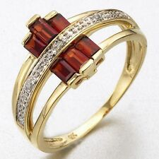 Fashion Luxury Size 8 Nobby Garnet 18K Gold Filled Womens Anniversary Ring Gift