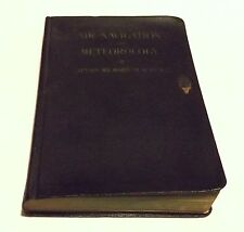 AIR NAVIGATION AND METEOROLOGY 4th Ed. Captain Richard Duncan Vinyl/1941 Book- T