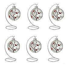 Ornament Stand Display Holder Hanger Hook Silver 8inch 6pcs