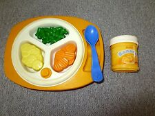 Fisher Price Fun with Food Baby Mealtime Feeding Plate Banana Jar++ Lot T7