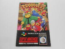 TRODDLERS Spielanleitung Super Nintendo SNES PAL Manual Booklet