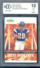 2007 score hot rookies #3 ADRIAN PETERSON rookie BGS BCCG 10