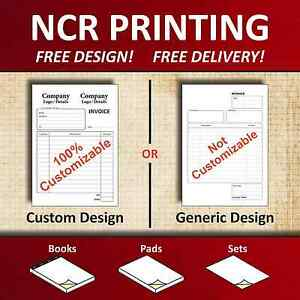 Carbonless Duplicate Books - A4 / A5 / A3 - Invoice / Receipt / Delivery