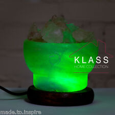 Natural Ionising Himalayan Rock Crystal Salt USB LED Color Kids Lamp Heart Globe Bowl
