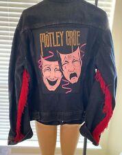 Motley Crue 1985 Vintage rock concert Tour jacket sz 46L