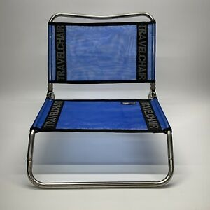Vintage TravelChair Weather Resistant Aluminum Camping Beach Chair, Blue