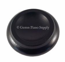 "Gemm Piano Hardwood Maple Caster Cups, Ebony,  3-1/2"" x 2-3/8"""