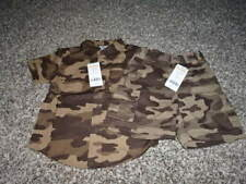 NWT NEW GYMBOREE 18-24 CAMO CAMOUFLAGE SHORTS BUTTON UP SHIRT KING OF THE JUNGLE