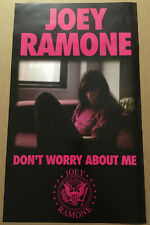 Ramones Joey Ramone Rare 2002 Double Sided Promo Poster for Worry Cd 13x22 Usa