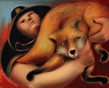 Tommervik Fox Painting Park Ranger Rescue Fox Art From Fire Animal Painting