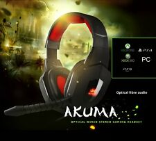 Nemesis Akuma Con Cable Óptico Digital Stereo Headset Pc Xbox 360 Xbox One Ps4 Ps3