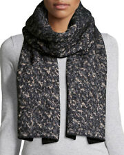 Rag & Bone Scarlett Melange Black/ Gray Knit Scarf Retail $195