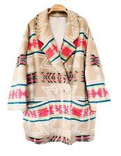 90's Manteau oversize imprimé aztèque vintage