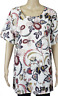 LADIES EX M&S TOP CURVE PLUS SIZE IVORY FLORAL SIZE 18-32 £12.99 FREE P&P