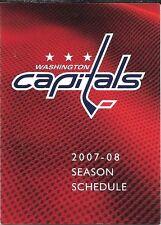 2007-08 NHL HOCKEY SCHEDULE - WASHINGTON CAPITALS