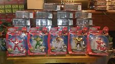 """Power Rangers Super Megaforce Mighty 4"""" Set Green White Red New"""
