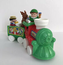 2002 Fisher Price Little People Musical Christmas Train with Reindeer Elf