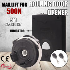 500N Garage Door Roller Opener Motor Rolling Gate Automatic LED 2xRemote Control