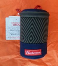 Budweiser Can Cooler With Carabiner GENUINE ISSUE GEAR BLUE