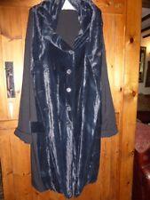 Rundholz Mainline, Black Wool Mix & Silk Velvet Coat Sz  M-L