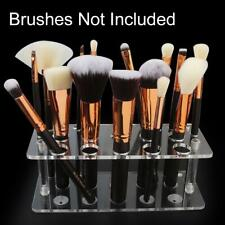 Clear Makeup Brush Holder 20 Holes Acrylic Cosmetic Storage Stand Organizer