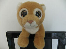 """7"""" TY LION ESS CUB BIG EYES GINGER CAT KITTEN SOFT TOY TEDDY NEXT EASTER PINK N"""