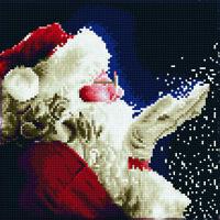 Diamond Painting Kit Dotz DIAMOND ART - SANTA 30 x 30 cm Christmas Snow Wish